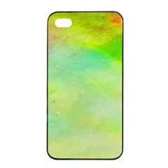 Abstract Yellow Green Oil Apple iPhone 4/4s Seamless Case (Black)