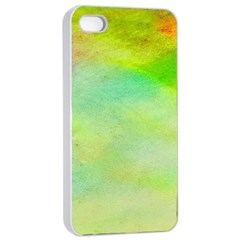 Abstract Yellow Green Oil Apple Iphone 4/4s Seamless Case (white)