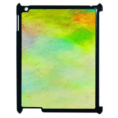 Abstract Yellow Green Oil Apple Ipad 2 Case (black)