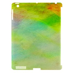 Abstract Yellow Green Oil Apple iPad 3/4 Hardshell Case (Compatible with Smart Cover)