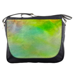 Abstract Yellow Green Oil Messenger Bags