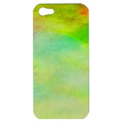 Abstract Yellow Green Oil Apple Iphone 5 Hardshell Case