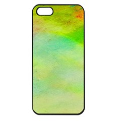 Abstract Yellow Green Oil Apple iPhone 5 Seamless Case (Black)