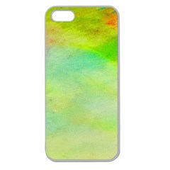 Abstract Yellow Green Oil Apple Seamless iPhone 5 Case (Clear)