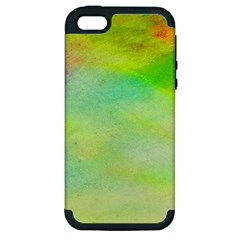 Abstract Yellow Green Oil Apple Iphone 5 Hardshell Case (pc+silicone)