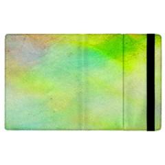 Abstract Yellow Green Oil Apple iPad 3/4 Flip Case