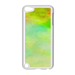 Abstract Yellow Green Oil Apple Ipod Touch 5 Case (white)