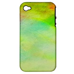 Abstract Yellow Green Oil Apple Iphone 4/4s Hardshell Case (pc+silicone)