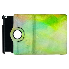 Abstract Yellow Green Oil Apple Ipad 2 Flip 360 Case