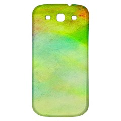 Abstract Yellow Green Oil Samsung Galaxy S3 S Iii Classic Hardshell Back Case