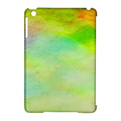 Abstract Yellow Green Oil Apple iPad Mini Hardshell Case (Compatible with Smart Cover)