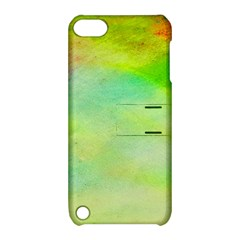 Abstract Yellow Green Oil Apple Ipod Touch 5 Hardshell Case With Stand