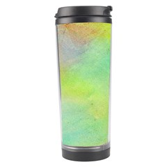 Abstract Yellow Green Oil Travel Tumbler