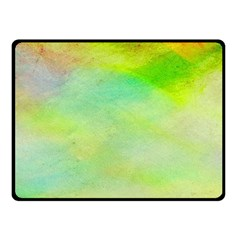 Abstract Yellow Green Oil Double Sided Fleece Blanket (Small)