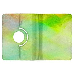 Abstract Yellow Green Oil Kindle Fire Hdx Flip 360 Case