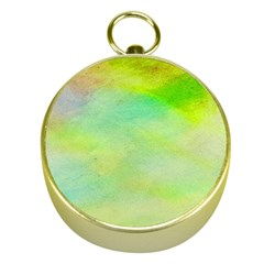 Abstract Yellow Green Oil Gold Compasses