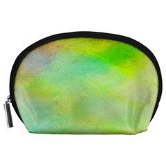 Abstract Yellow Green Oil Accessory Pouches (Large)