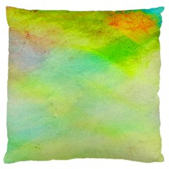 Abstract Yellow Green Oil Standard Flano Cushion Case (Two Sides)