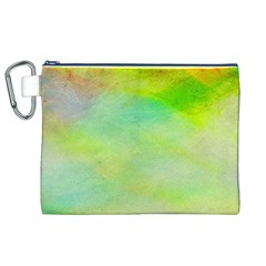 Abstract Yellow Green Oil Canvas Cosmetic Bag (xl)