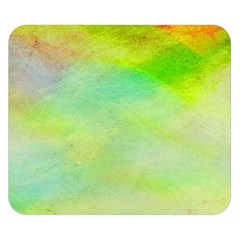 Abstract Yellow Green Oil Double Sided Flano Blanket (Small)