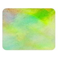 Abstract Yellow Green Oil Double Sided Flano Blanket (Large)