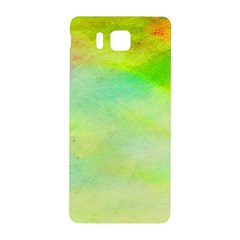 Abstract Yellow Green Oil Samsung Galaxy Alpha Hardshell Back Case