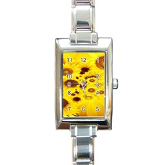 Beautiful Sunflowers Rectangle Italian Charm Watch