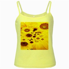 Beautiful Sunflowers Yellow Spaghetti Tank