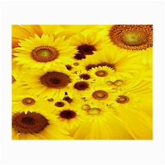 Beautiful Sunflowers Small Glasses Cloth