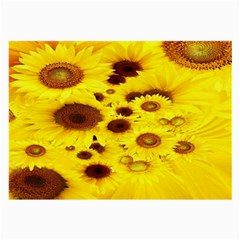 Beautiful Sunflowers Large Glasses Cloth