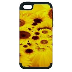 Beautiful Sunflowers Apple Iphone 5 Hardshell Case (pc+silicone)