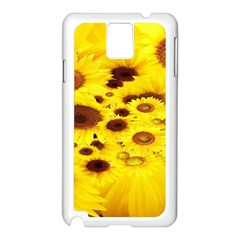 Beautiful Sunflowers Samsung Galaxy Note 3 N9005 Case (white)