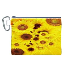 Beautiful Sunflowers Canvas Cosmetic Bag (L)