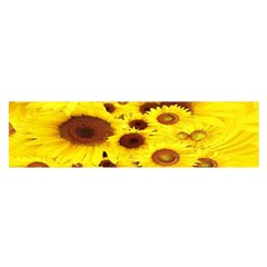 Beautiful Sunflowers Satin Scarf (Oblong)