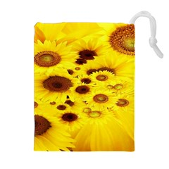 Beautiful Sunflowers Drawstring Pouches (extra Large)