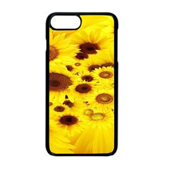 Beautiful Sunflowers Apple Iphone 7 Plus Seamless Case (black)