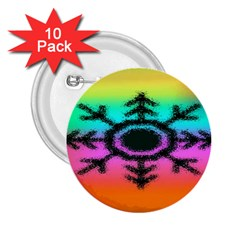 Vector Snowflake 2.25  Buttons (10 pack)
