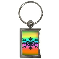 Vector Snowflake Key Chains (rectangle)