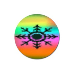 Vector Snowflake Magnet 3  (round)