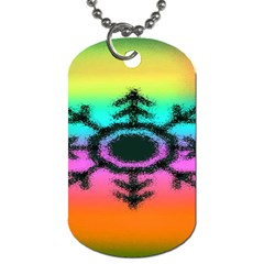 Vector Snowflake Dog Tag (One Side)