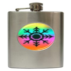 Vector Snowflake Hip Flask (6 Oz)