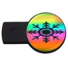 Vector Snowflake USB Flash Drive Round (4 GB)