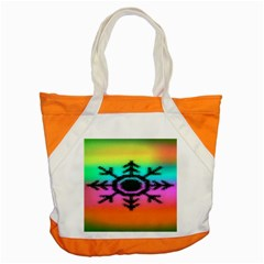 Vector Snowflake Accent Tote Bag