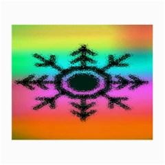 Vector Snowflake Small Glasses Cloth (2-Side)