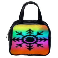 Vector Snowflake Classic Handbags (one Side)