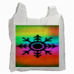 Vector Snowflake Recycle Bag (two Side)