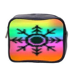 Vector Snowflake Mini Toiletries Bag 2 Side