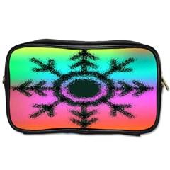 Vector Snowflake Toiletries Bags 2-Side