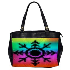 Vector Snowflake Office Handbags