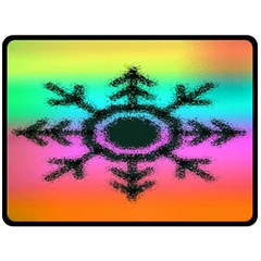 Vector Snowflake Fleece Blanket (large)